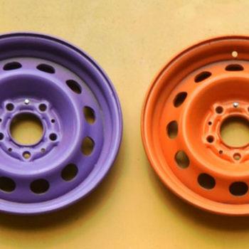 покраска дисков акрилом