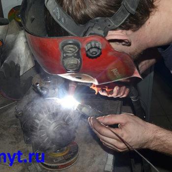 аргоновая сварка трещины корпуса генератора